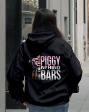 Motorycycle Hog Biker Leather Piggy Bars Hooded Sweatshirt lifestyle-unisex-hoodie-back-2