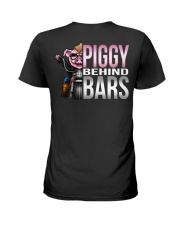 Motorycycle Hog Biker Leather Piggy Bars Ladies T-Shirt thumbnail