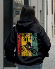 In My Head I'm Riding My Dirt Bike Hooded Sweatshirt lifestyle-unisex-hoodie-back-2