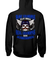 Motorcycle Skull Blue Grandfather Papa Hooded Sweatshirt back