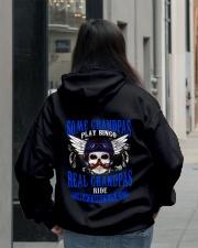 Motorcycle Skull Blue Grandfather Papa Hooded Sweatshirt lifestyle-unisex-hoodie-back-2