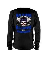 Motorcycle Skull Blue Grandfather Papa Long Sleeve Tee thumbnail