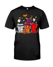 Cat Happy Halloween Cute mummy witch demon cat Classic T-Shirt thumbnail
