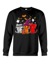 Cat Happy Halloween Cute mummy witch demon cat Crewneck Sweatshirt thumbnail