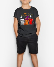 Cat Happy Halloween Cute mummy witch demon cat Youth T-Shirt lifestyle-youth-tshirt-front-1