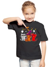 Cat Happy Halloween Cute mummy witch demon cat Youth T-Shirt lifestyle-youth-tshirt-front-2