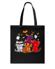 Cat Happy Halloween Cute mummy witch demon cat Tote Bag thumbnail