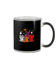Cat Happy Halloween Cute mummy witch demon cat Color Changing Mug thumbnail