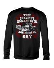 July Birthday Motorcycle Crewneck Sweatshirt thumbnail