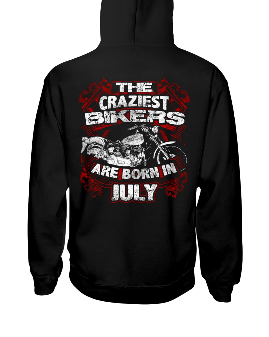 July Birthday Motorcycle Hooded Sweatshirt
