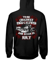July Birthday Motorcycle Hooded Sweatshirt back