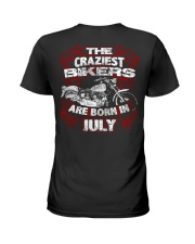 July Birthday Motorcycle Ladies T-Shirt thumbnail