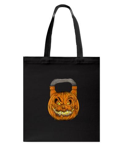 Women Creepy Halloween Pumpkin Kettlebell