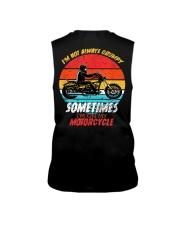 Sometimes I'm On My Motorcycle Retro Sleeveless Tee thumbnail