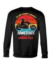 Sometimes I'm On My Motorcycle Retro Crewneck Sweatshirt thumbnail