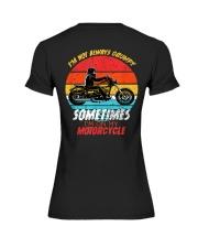 Sometimes I'm On My Motorcycle Retro Premium Fit Ladies Tee thumbnail