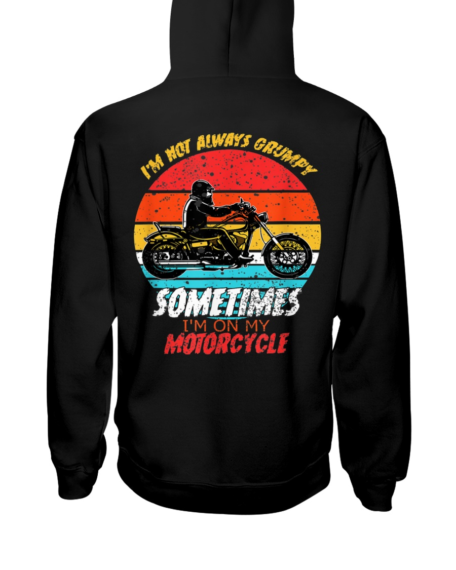 Sometimes I'm On My Motorcycle Retro Hooded Sweatshirt