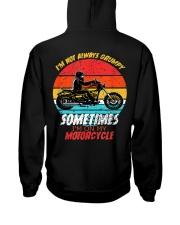 Sometimes I'm On My Motorcycle Retro Hooded Sweatshirt back