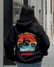 Sometimes I'm On My Motorcycle Retro Hooded Sweatshirt lifestyle-unisex-hoodie-back-2
