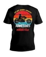 Sometimes I'm On My Motorcycle Retro V-Neck T-Shirt thumbnail