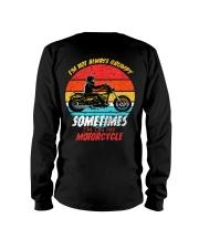 Sometimes I'm On My Motorcycle Retro Long Sleeve Tee thumbnail