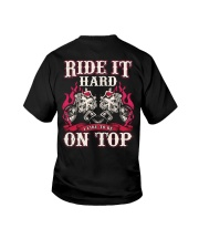 Ride It Hard I Like To Be On Top Biker Youth T-Shirt thumbnail