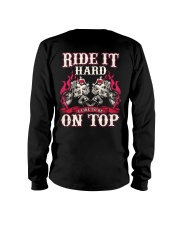Ride It Hard I Like To Be On Top Biker Long Sleeve Tee thumbnail