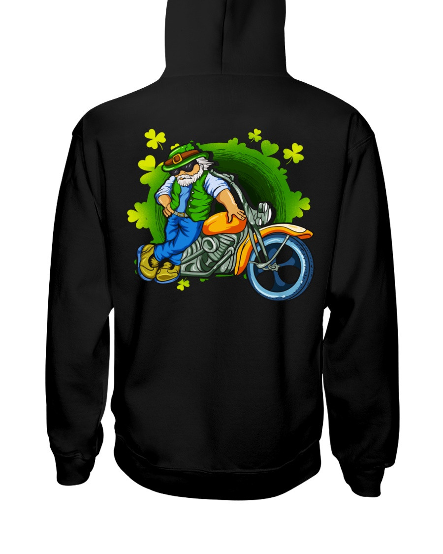 Irish Motorcycle Shirt Biker Hooded Sweatshirt