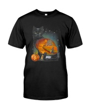 Black Cat - Halloween inside t-shirt Funny witch  Classic T-Shirt thumbnail