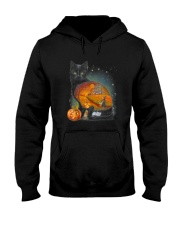 Black Cat - Halloween inside t-shirt Funny witch  Hooded Sweatshirt thumbnail