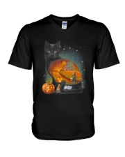 Black Cat - Halloween inside t-shirt Funny witch  V-Neck T-Shirt thumbnail