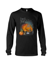 Black Cat - Halloween inside t-shirt Funny witch  Long Sleeve Tee thumbnail