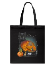 Black Cat - Halloween inside t-shirt Funny witch  Tote Bag thumbnail