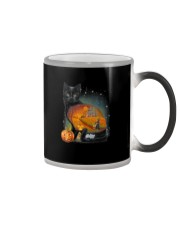 Black Cat - Halloween inside t-shirt Funny witch  Color Changing Mug thumbnail