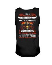 I'm a grumpy old man I was born in October Unisex Tank thumbnail