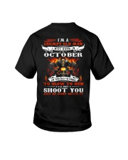 I'm a grumpy old man I was born in October Youth T-Shirt thumbnail