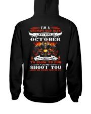 I'm a grumpy old man I was born in October Hooded Sweatshirt back