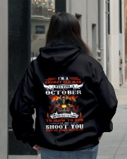 I'm a grumpy old man I was born in October Hooded Sweatshirt lifestyle-unisex-hoodie-back-2