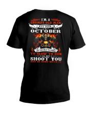I'm a grumpy old man I was born in October V-Neck T-Shirt thumbnail