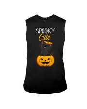Spooky Cute Black Cat Halloween Pumpkin T-Shirt Sleeveless Tee thumbnail