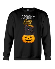 Spooky Cute Black Cat Halloween Pumpkin T-Shirt Crewneck Sweatshirt thumbnail
