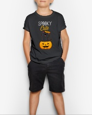 Spooky Cute Black Cat Halloween Pumpkin T-Shirt Youth T-Shirt lifestyle-youth-tshirt-front-1