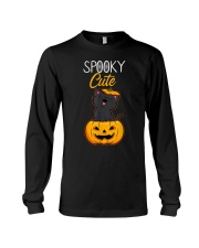 Spooky Cute Black Cat Halloween Pumpkin T-Shirt Long Sleeve Tee thumbnail