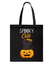 Spooky Cute Black Cat Halloween Pumpkin T-Shirt Tote Bag thumbnail