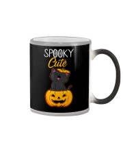 Spooky Cute Black Cat Halloween Pumpkin T-Shirt Color Changing Mug thumbnail