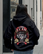 Slide Lean Twist Cool Skull Biker Motorcycle Hooded Sweatshirt lifestyle-unisex-hoodie-back-2