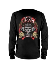 Slide Lean Twist Cool Skull Biker Motorcycle Long Sleeve Tee thumbnail