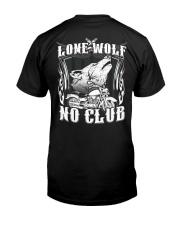 Lone Wolf No Club Motorcycle Classic T-Shirt thumbnail