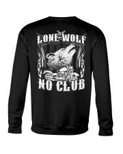 Lone Wolf No Club Motorcycle Crewneck Sweatshirt thumbnail