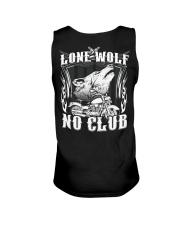 Lone Wolf No Club Motorcycle Unisex Tank thumbnail